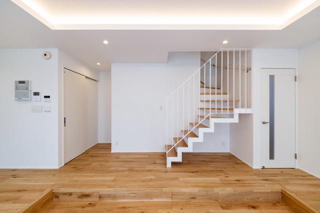 写真:リビング階段